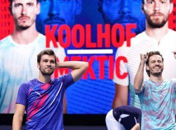Wesley Koolhof dan Nikola Mektic menandai debutnya di Final ATP Nitto dengan kemenangan