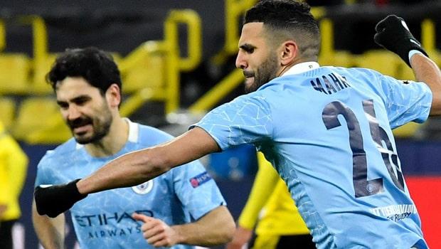 Mahrez, Foden mencetak gol dalam Kemenangan Manchester City di Dortmund