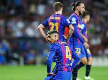 Gol telat Ronald Araujo mengamankan poin bagi Barcelona saat menghadapi Granada